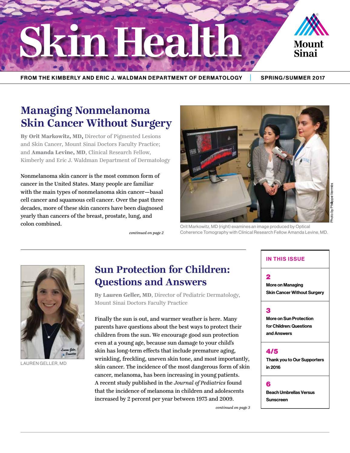 Dermatology - Spring/Summer 2017 Newsletter by Mount Sinai