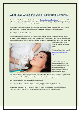 What Is All About The Cost Of Laser Hair Removal By Bare Pure