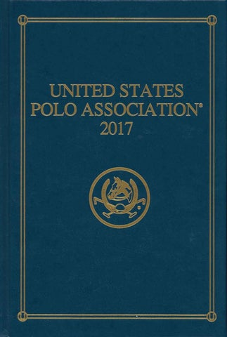2017 Uspa Bluebook By United States Polo Association Issuu