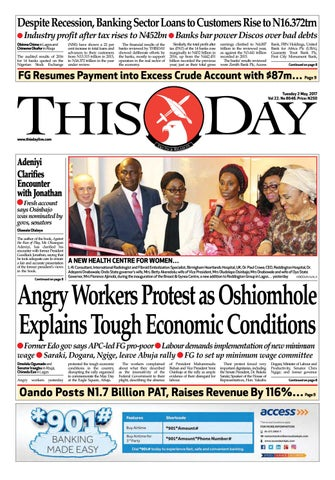 Tuesday 2nd May 2017 by THISDAY Newspapers Ltd - issuu 39f1c250a