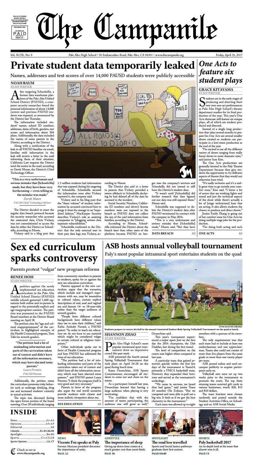 Issue 9, 4/28/2017 by The Campanile - issuu