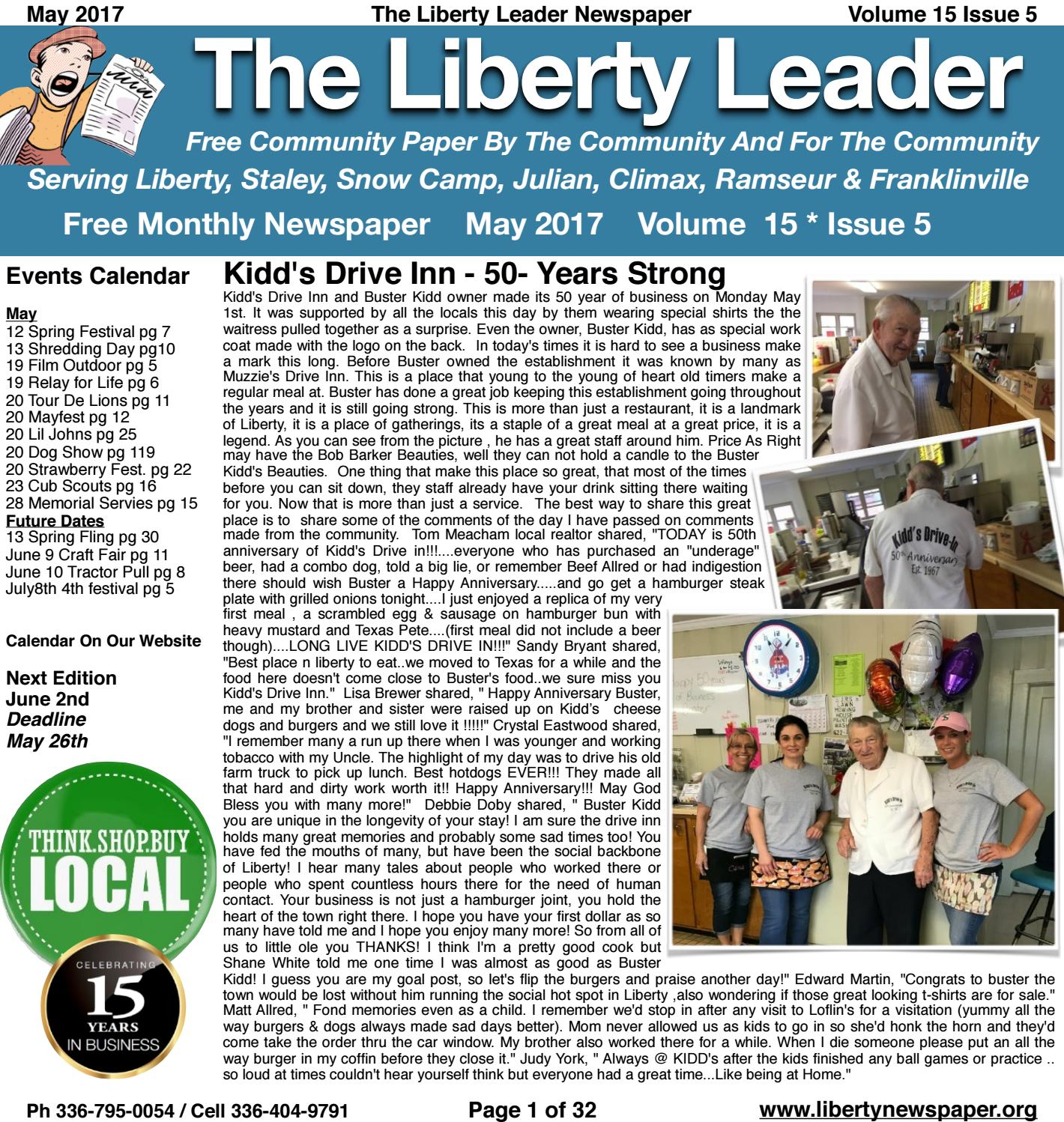 May 2017 Liberty Leader by Kevin Bowman issuu