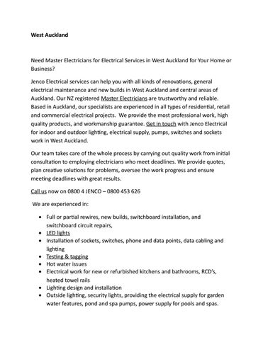 west auckland electrician by waikato shutters and blinds issuu Electrical House Plan page 1
