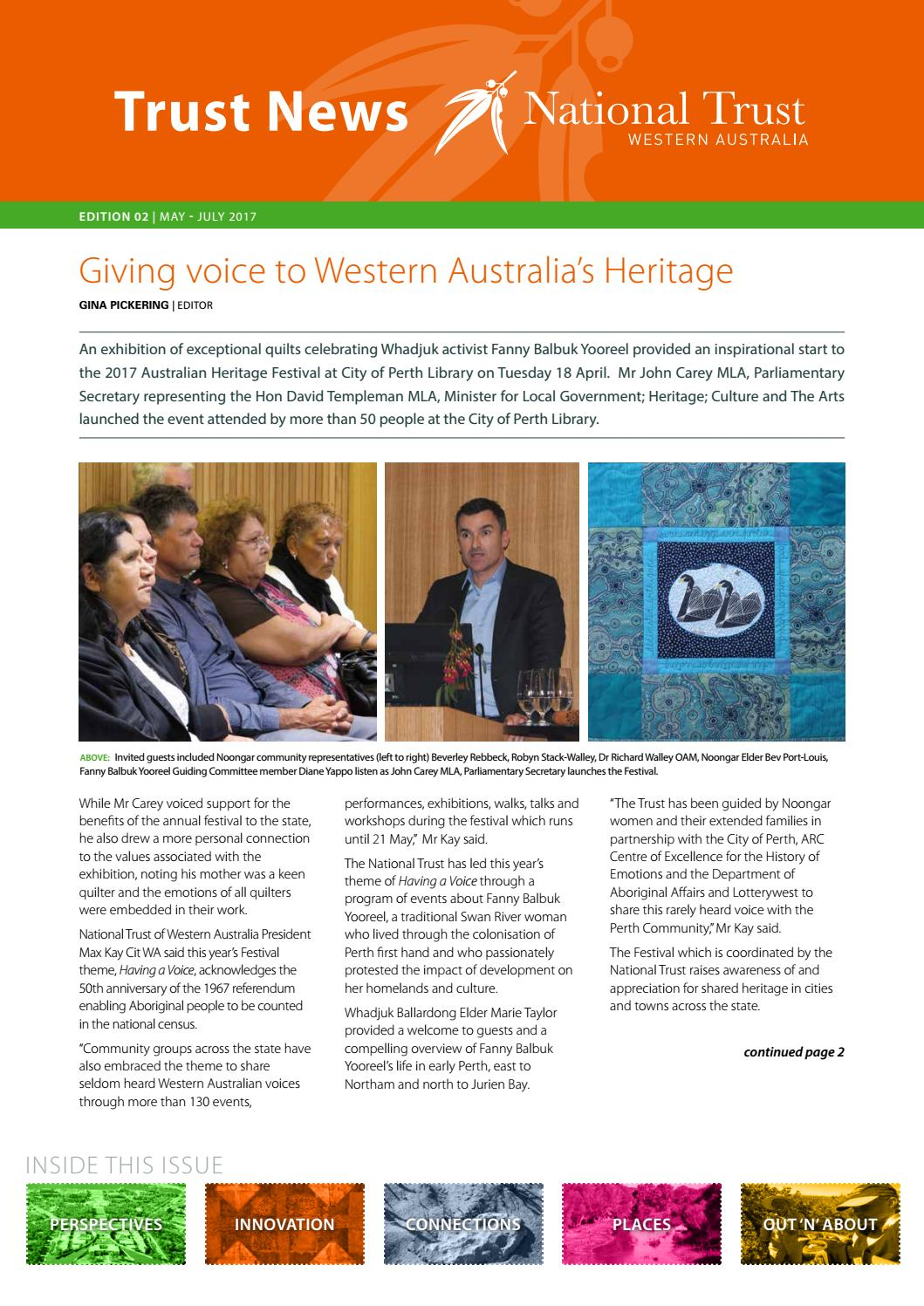 Trust News Western Australia May 2017 by The National Trusts in