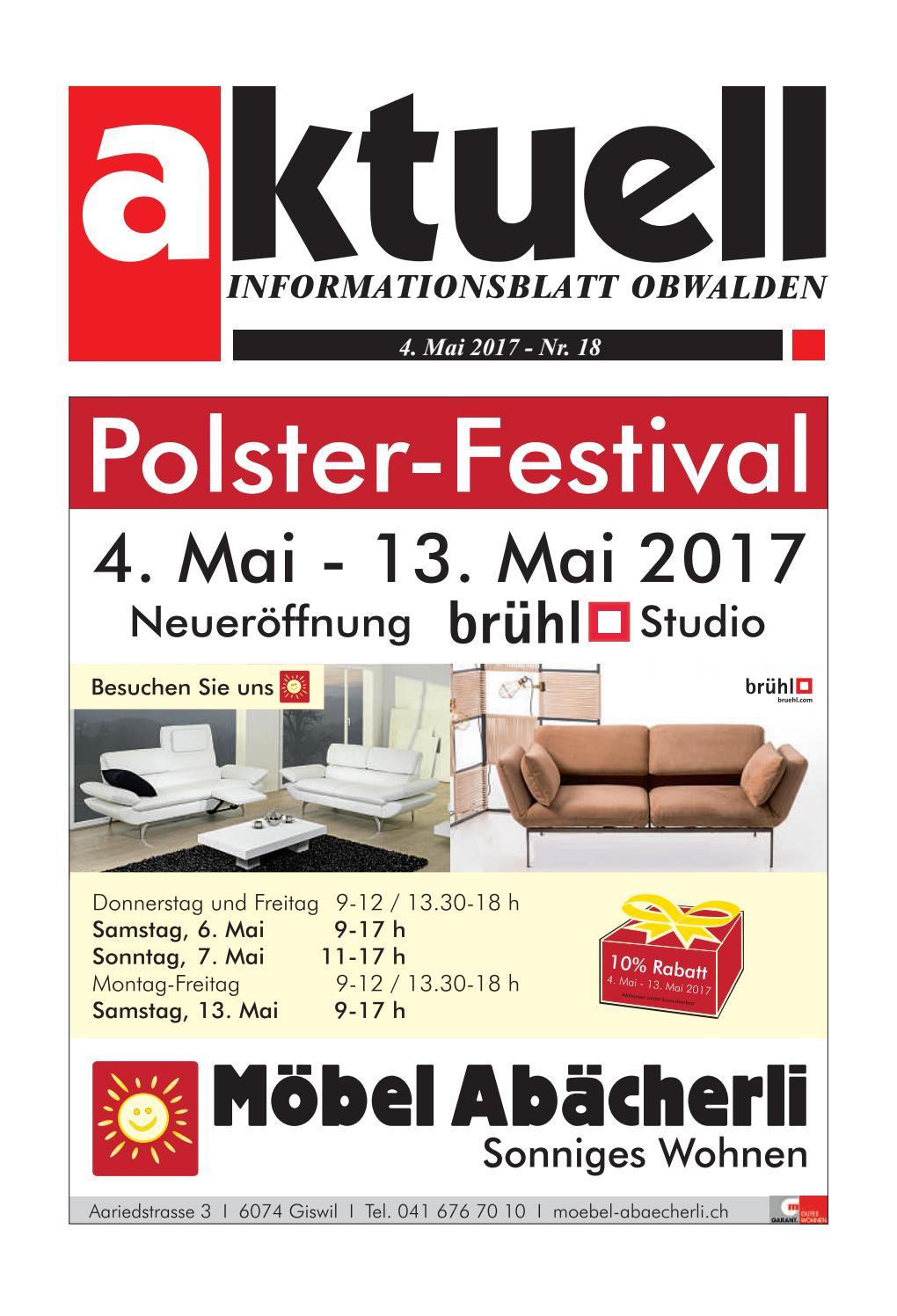 Aktuell Obwalden 18-2017 by Aktuell Obwalden AG - issuu