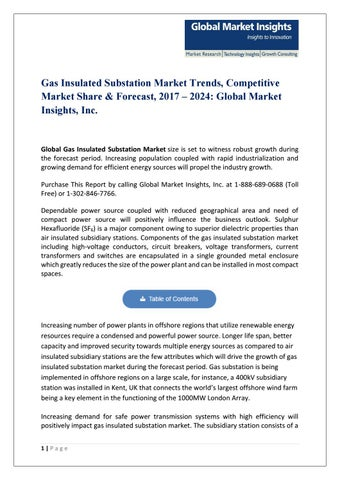PDF for Gas Insulated Substation Market by Global Market