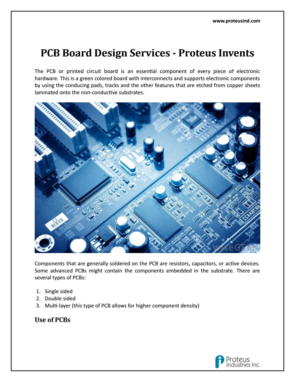Pcb Board Design Services Proteus Invents By Issuu Printed Circuit Manufacturer Buried Blind Via For Sale