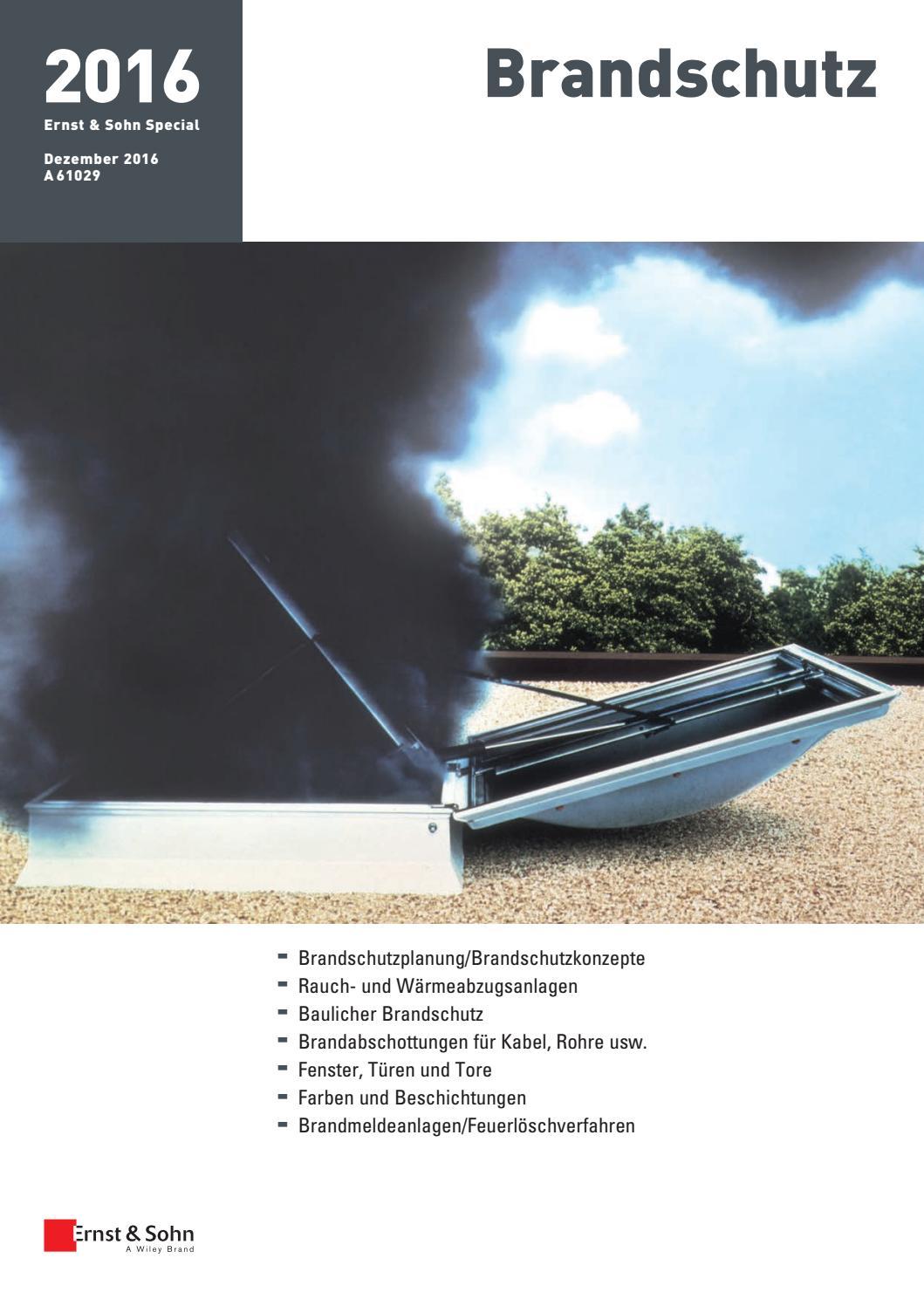Ernst & Sohn Sonderheft Brandschutz 2016 by Ernst & Sohn - issuu