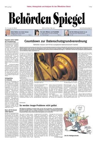 Behörden Spiegel Mai 2017 by propress - issuu