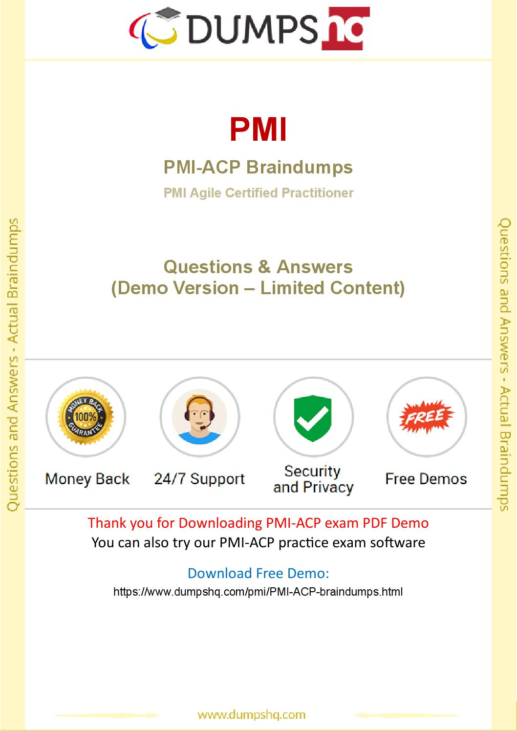 Pmi Acp Exam Braindumps Pass Pmi Acp Exam Easily With Latest Dumps
