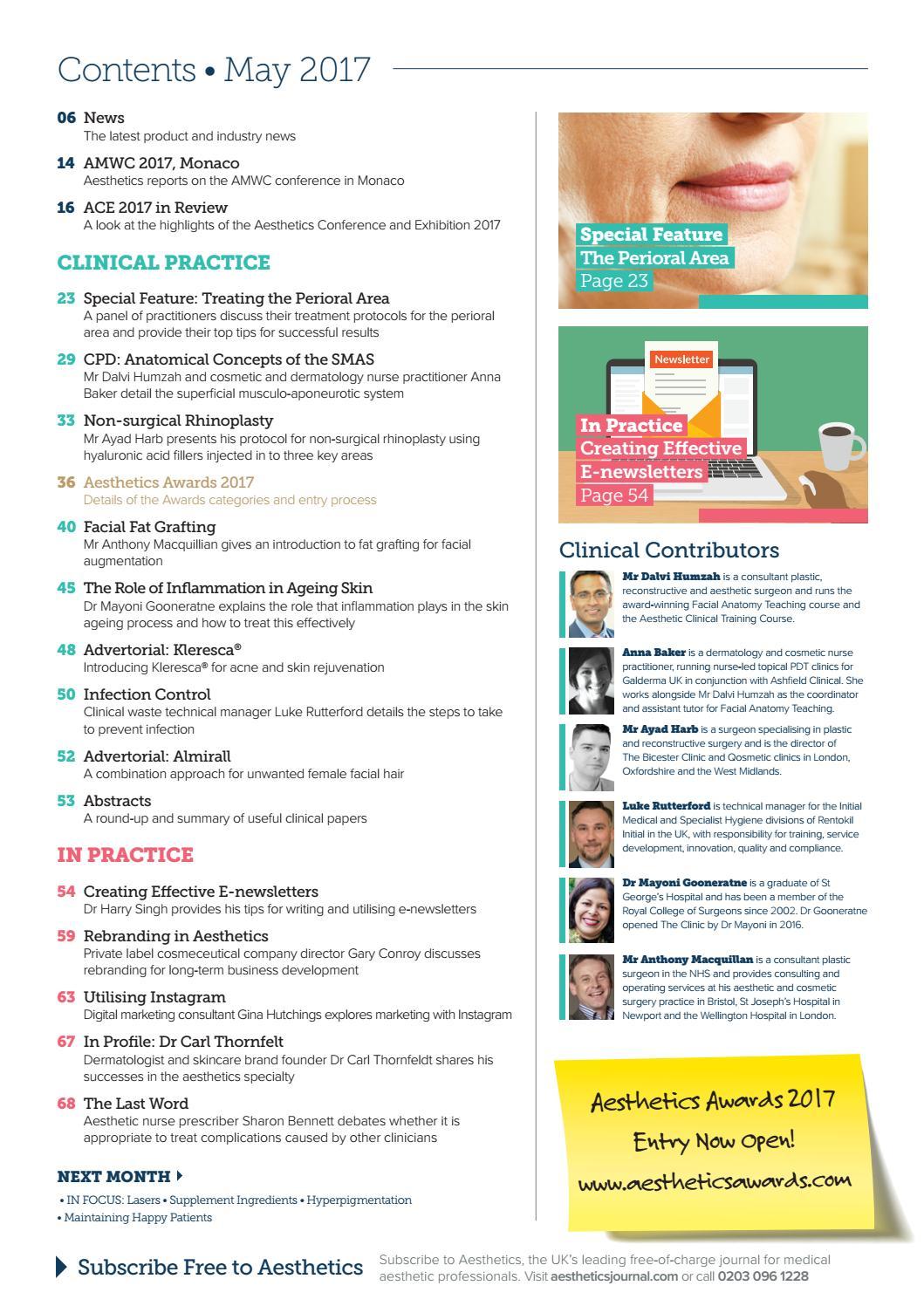 Aesthetics May 2017 by Aesthetics Journal - issuu