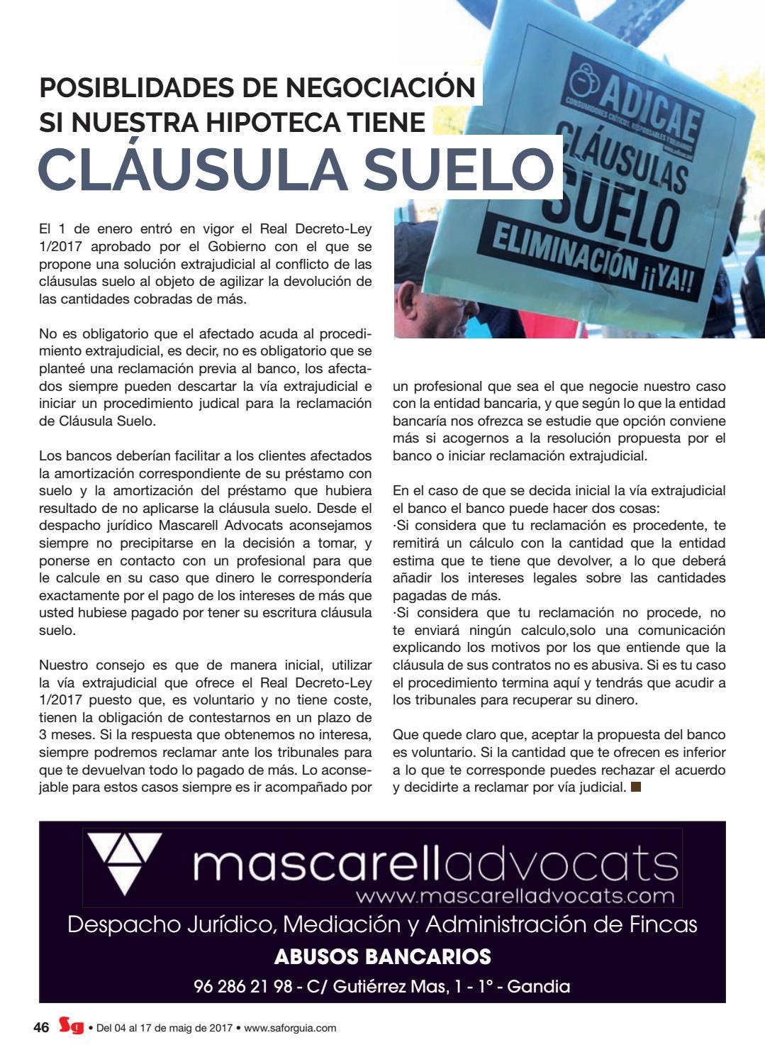 Plazo reclamacion clausula suelo fabulous clusulas suelo for Plazo para reclamar clausula suelo