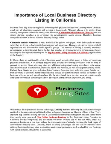 Best Business listing california by USA Business Listing - issuu