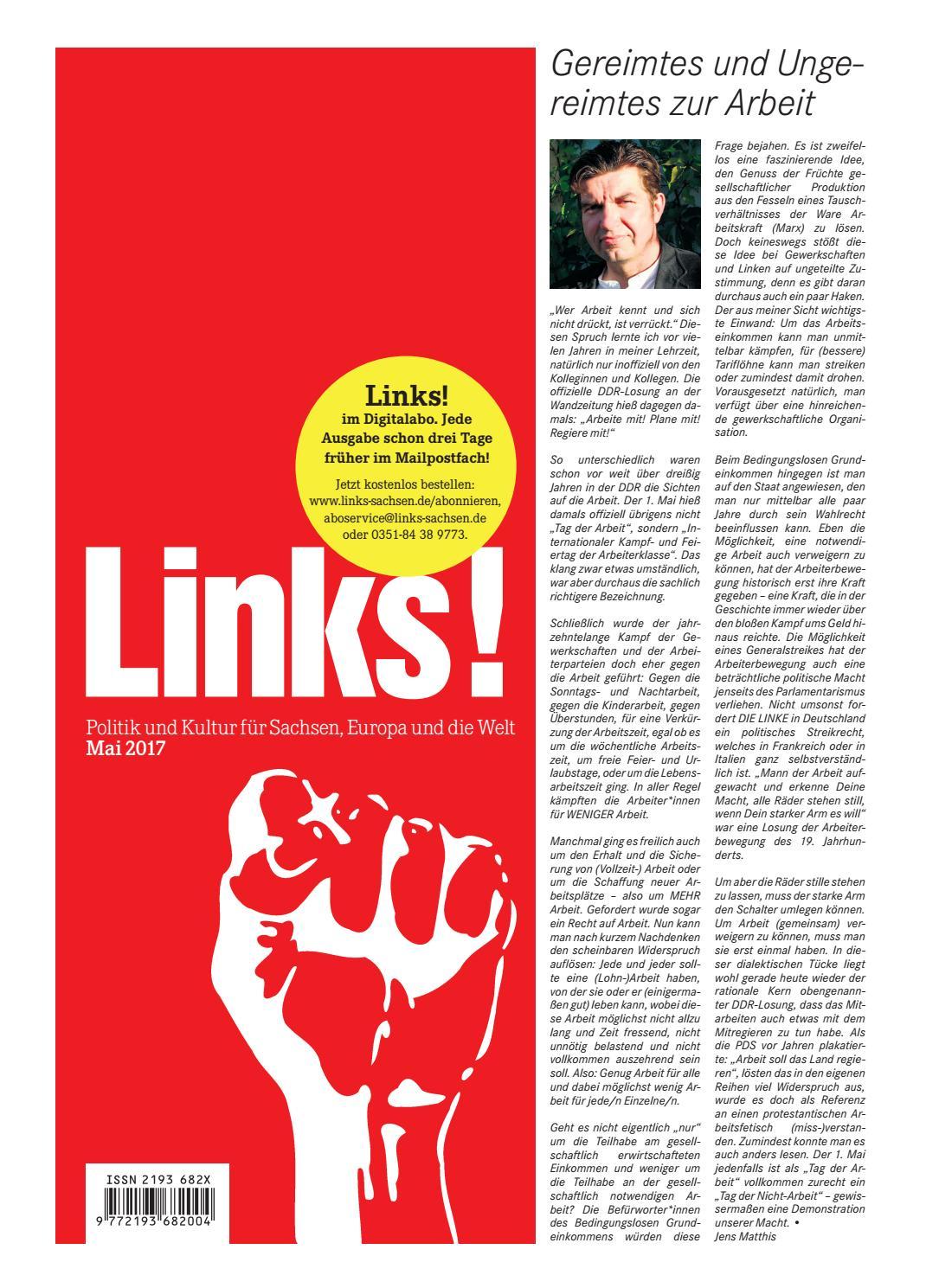 LINKS! Ausgabe 5/2017 by LINKS! Politik und Kultur für Sachsen ...