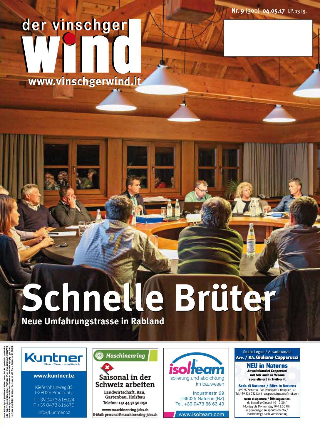 Zeitung Vinschgerwind ausgabe 9-17 Vinschgau Südtirol by ...
