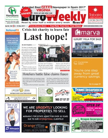 Euro Weekly News Costa Blanca North 4 10 May 2017 Issue