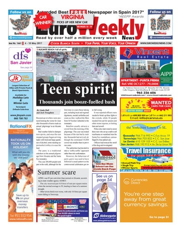 Euro Weekly News Costa Blanca South 4 10 May 2017 Issue