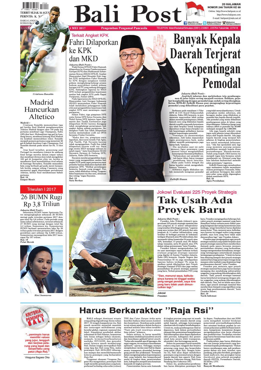 Edisi 04 Mei 2017 Balipostcom By E Paper Kmb Issuu Produk Ukm Bumn Bahan Songket Sulam Katun Merah