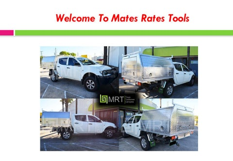 Best Suppliers of Ute Canopies by Mates Rates Tools Sydney
