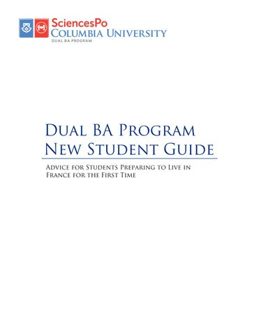Dual BA Program New Student Guide by Columbia GS - issuu