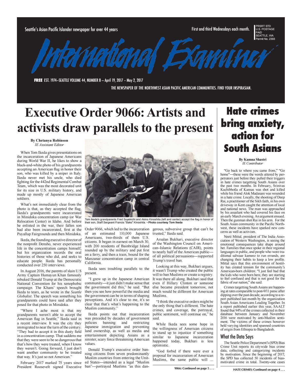 April 19, 2017 International Examiner by International