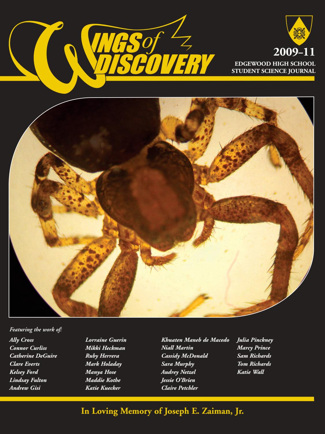 Wings of Discovery 2009-2011 by Edgewood High School - issuu