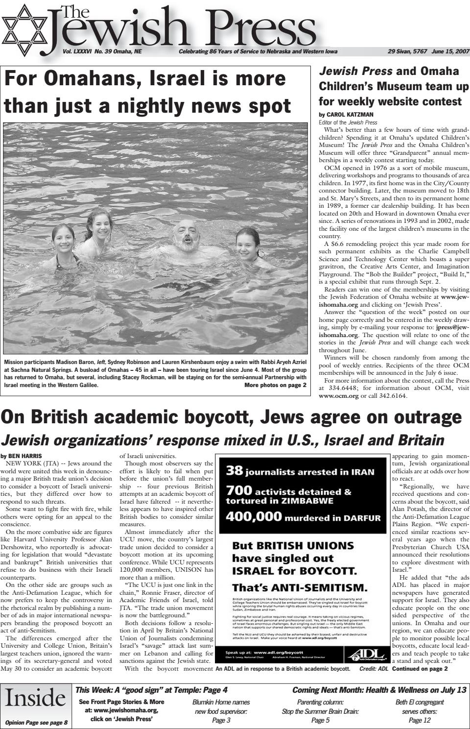 June 15, 2007 by Jewish Press - issuu