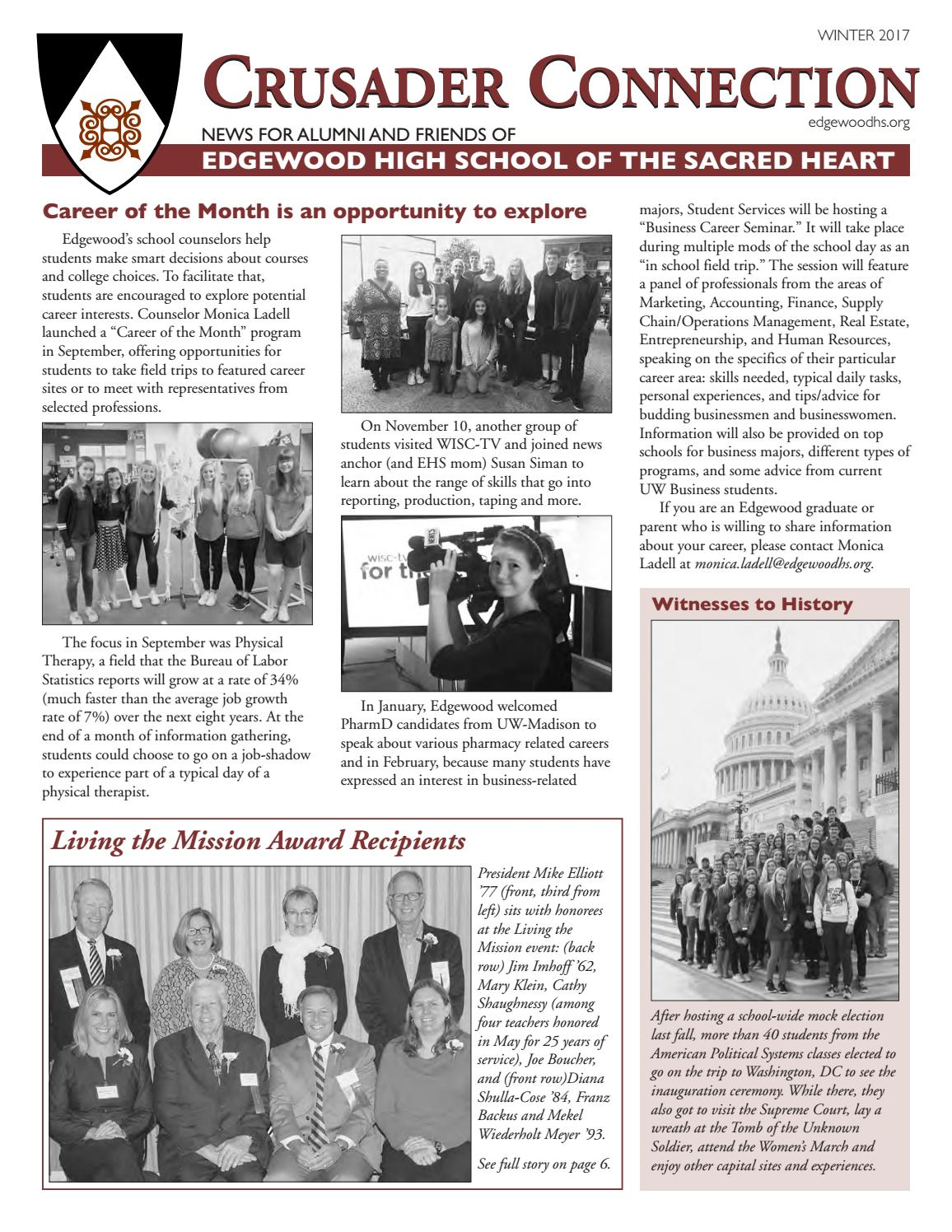 Crusader Connection Winter 2017 by Edgewood High School - issuu
