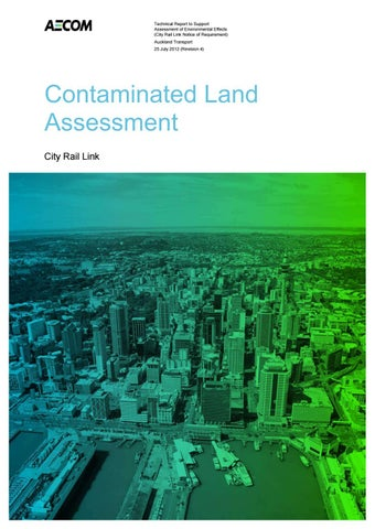 Contaminated land assessment part 1 by City Rail Link Ltd - issuu