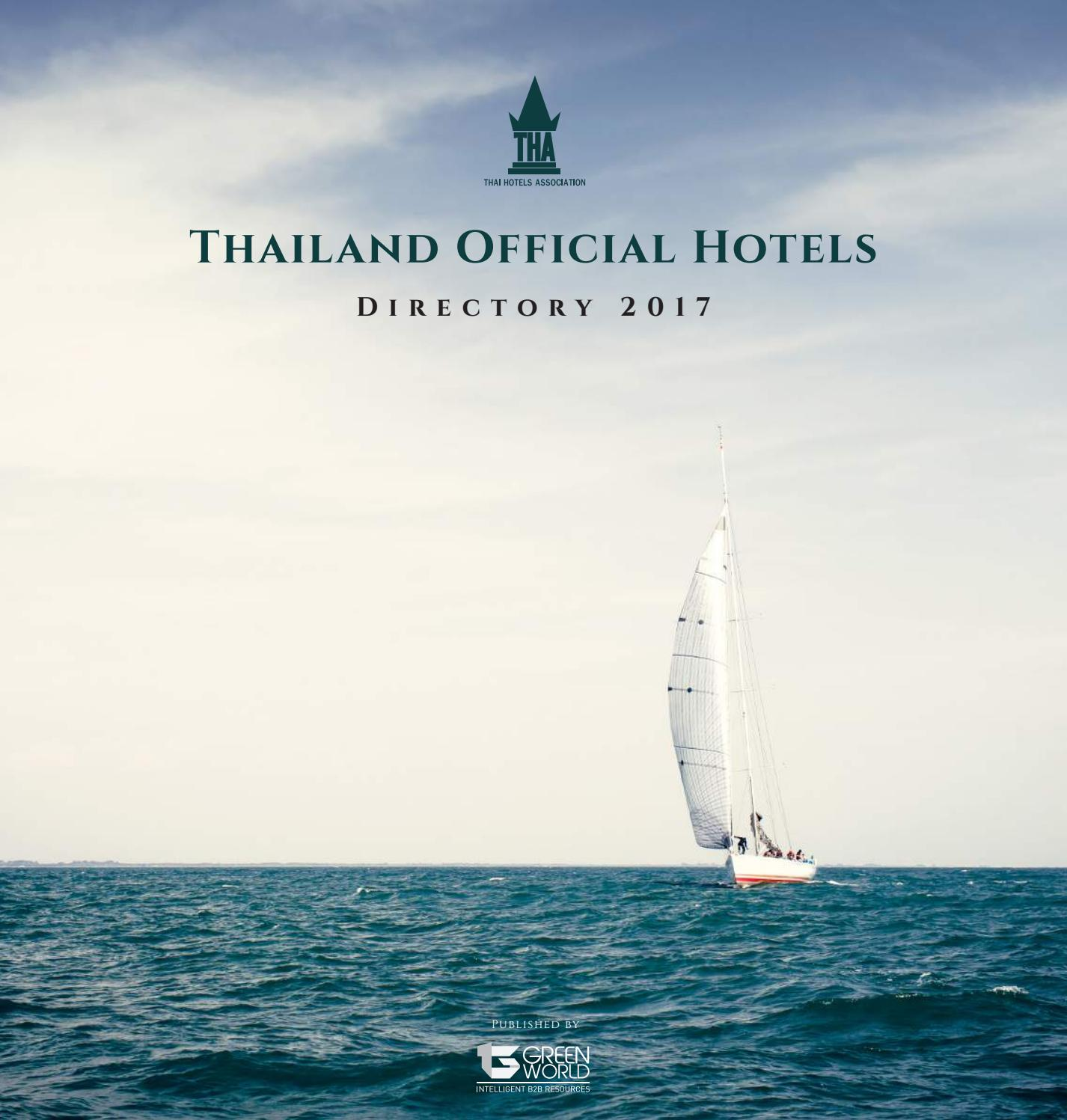 Thailand Official Hotels Directory 2017 by Green World Publication Company Limited - issuu