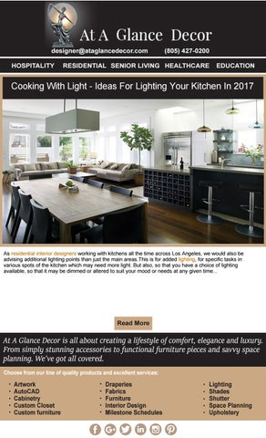 Top Interior Designers in Los Angeles by At A Glance Decor - issuu
