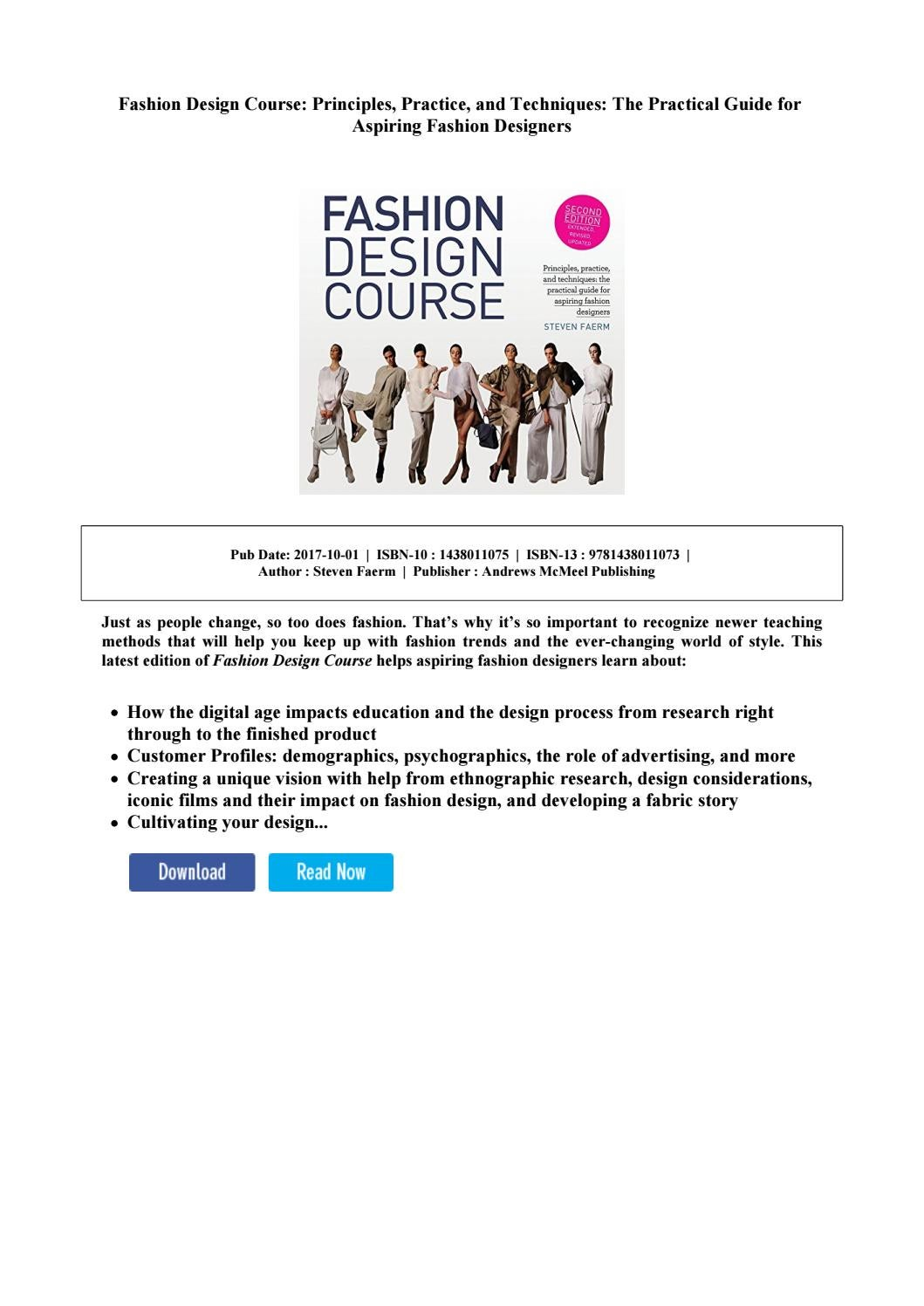 Fashion Design Course Principles Practice And Techniques The Practical Guide For Aspiring Fashion By Theohipacio Issuu