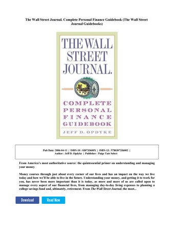how to read the wall street journal