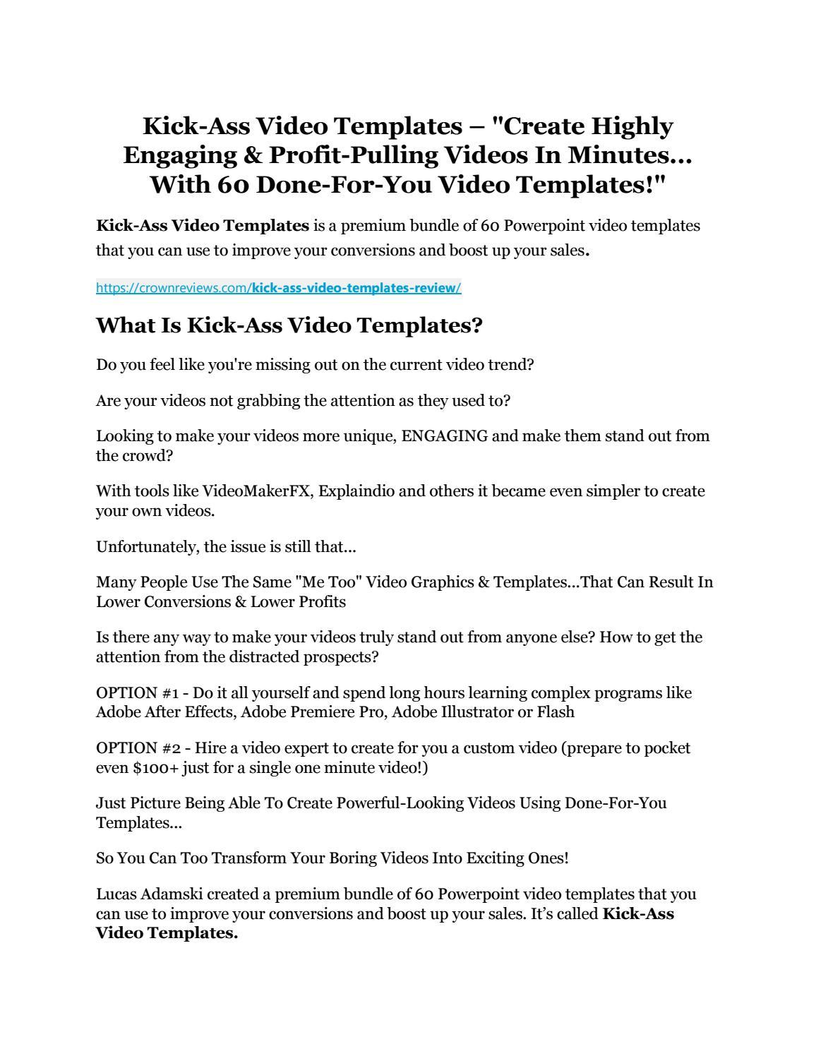 Ass Com Videos kick-ass video templates review - i was shocked!pehelifo