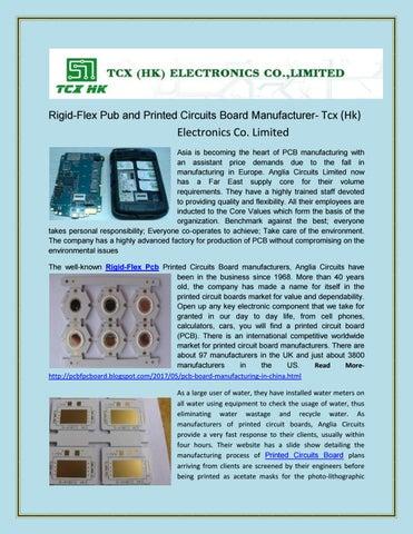Rigid flex pcb printed circuit boards manufacturer tcx (hk