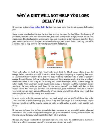 Burn belly fat daily