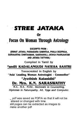 Stree jaataka by kns by Haranath Penumur - issuu