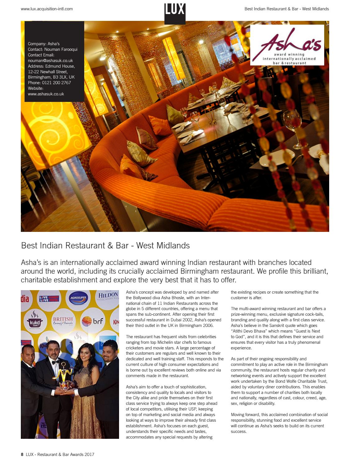 LUX Restaurant & Bar Awards 2017 by AI Global Media - issuu