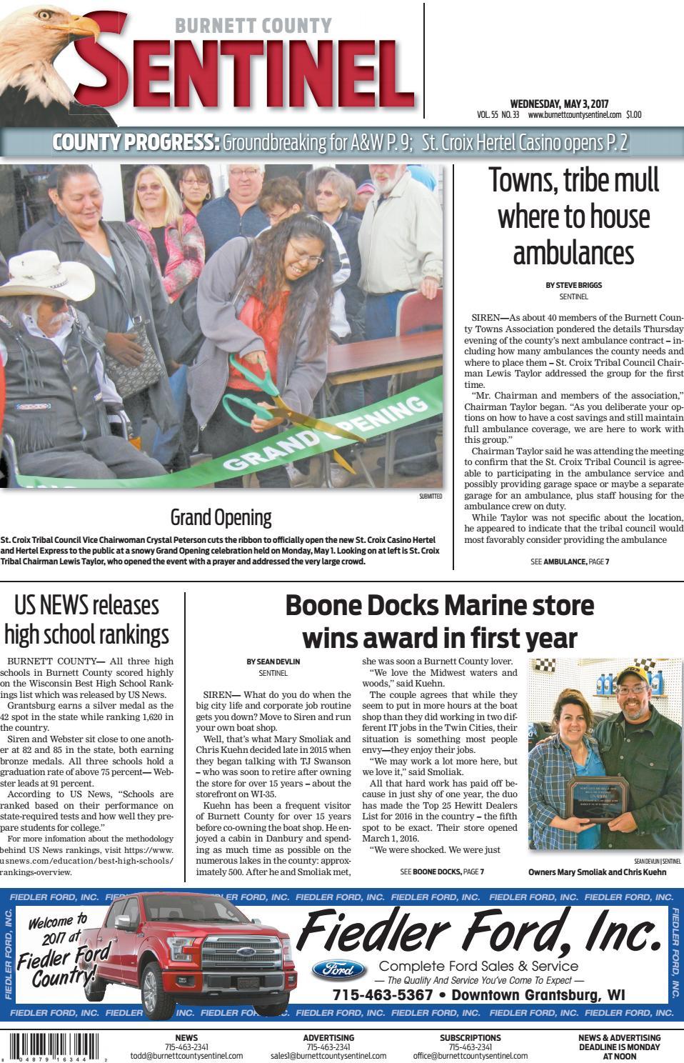 3f9d8dcfacb Burnett County Sentinel 05 03 17 by Burnett County Sentinel - issuu