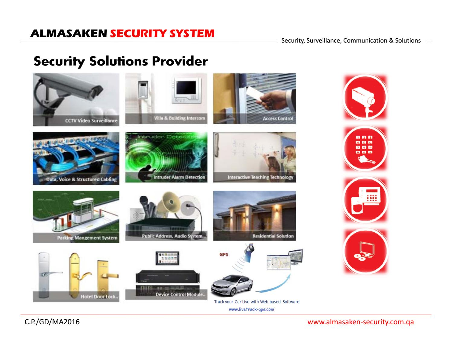 Ampc Company Profile 2017 By Almasaken Security Issuu Basic Structured Wiring Installation Adjacent To Panel