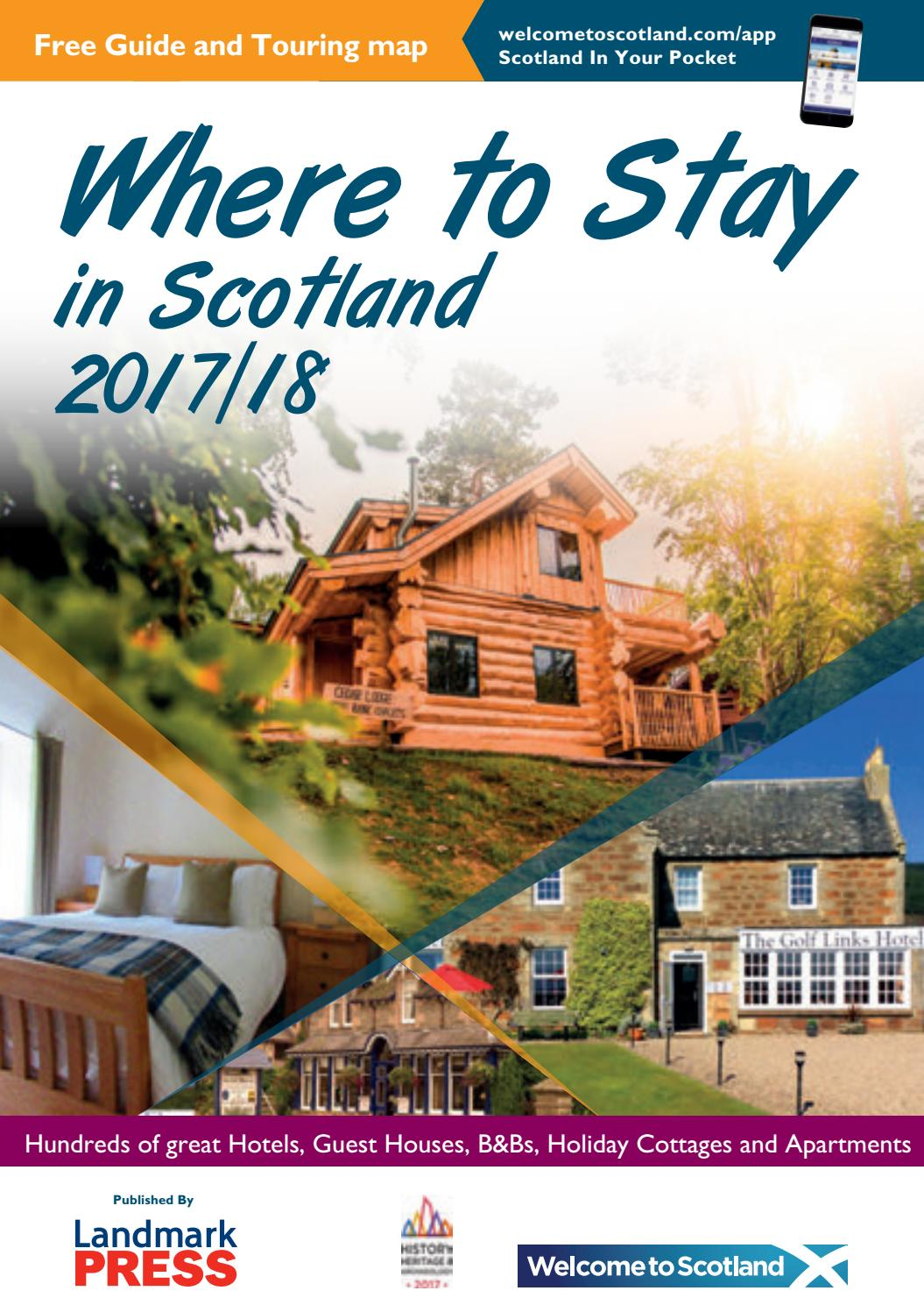 Where to Stay in Scotland Guide 2017-18 by Landmark Press