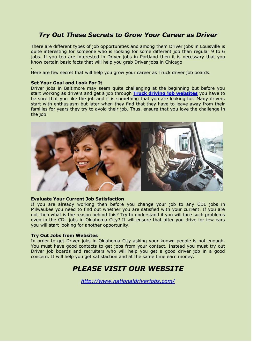 Driving Jobs Nyc >> Driver Jobs In New York By Driver Jobs In Chicago Issuu