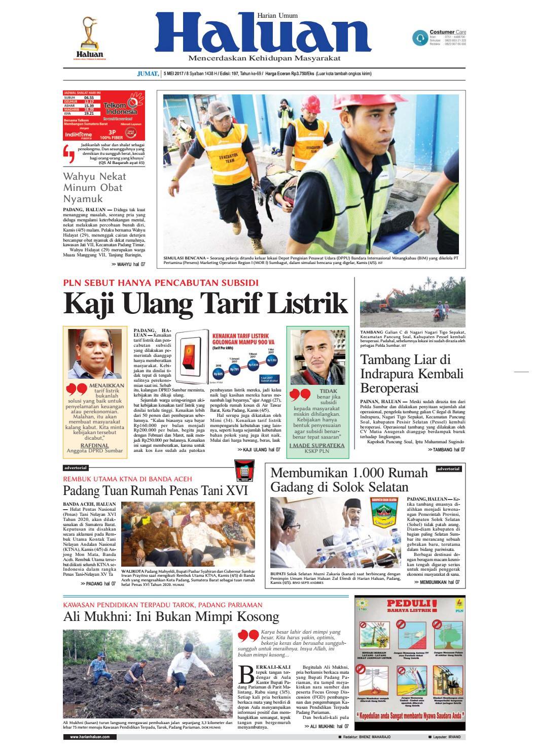 Haluan 05 Mei 2017 by Harian Haluan - issuu c345b289ac