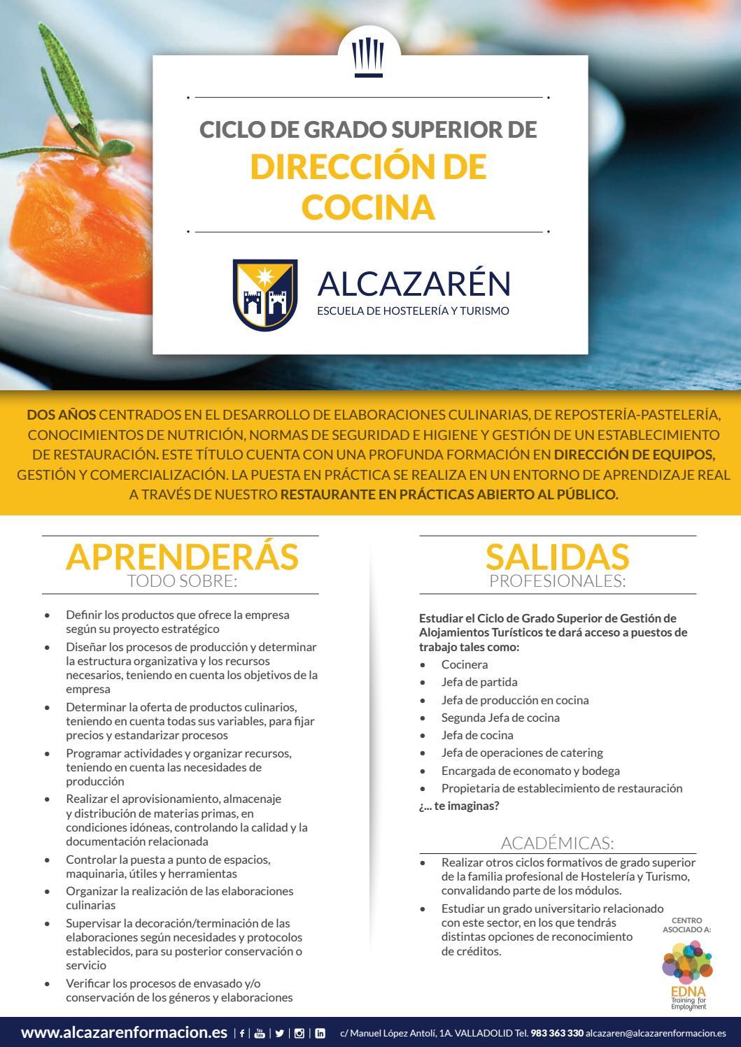 Csm Dirección De Cocina By Escuela De Profesionales
