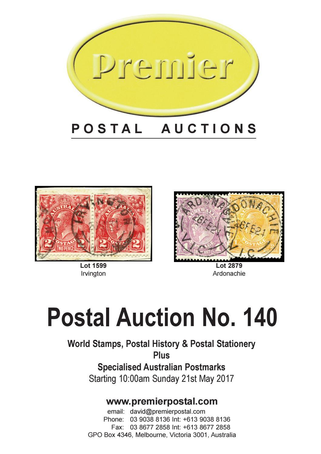 1026155c7a3e14 Postal Auction 140 by David Wood - issuu