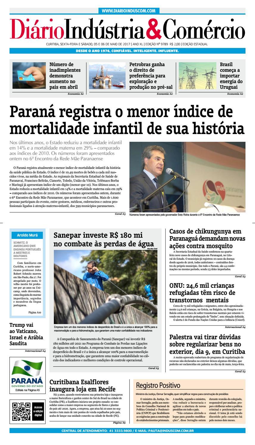 Diário Indústria Comércio - 05 de maio de 2017 by Diário Indústria    Comércio - issuu 4094030ff1a3a