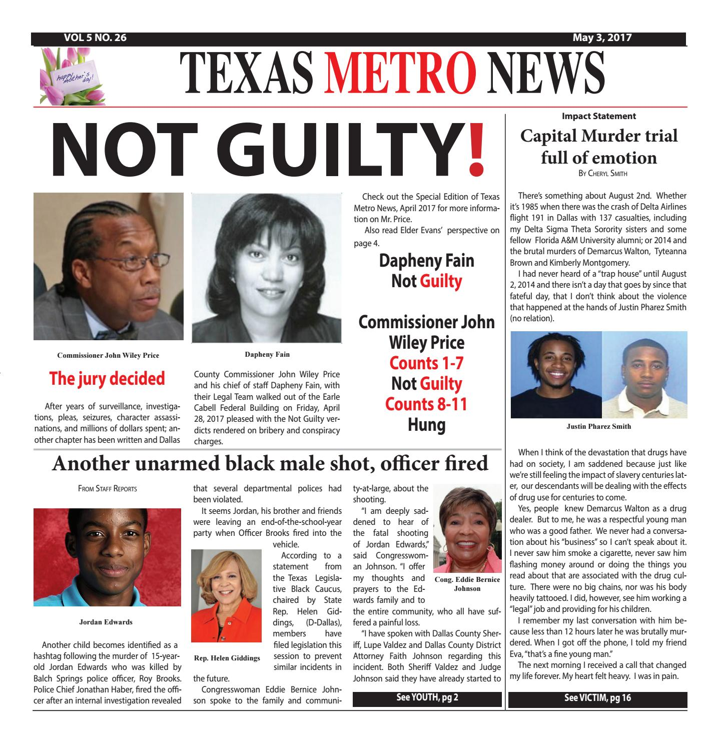 Texas metro news 5 5 17 by Cheryl Smith - issuu