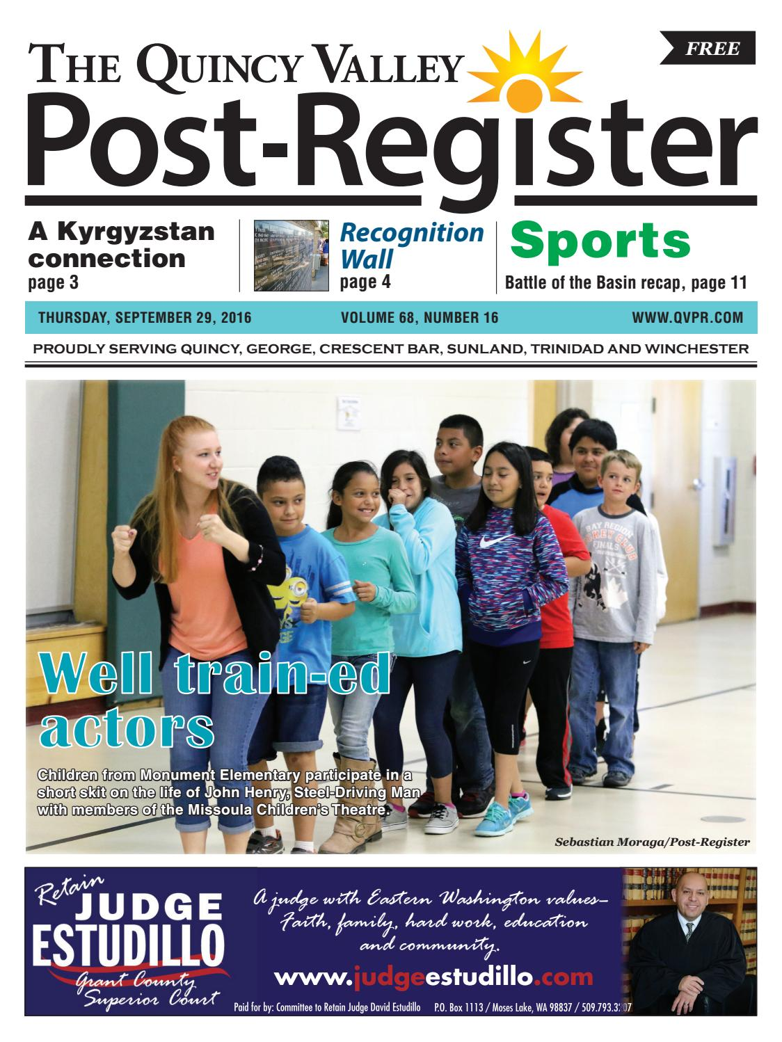 Sept. 29, 2016 by Quincy Valley Post-Register - issuu