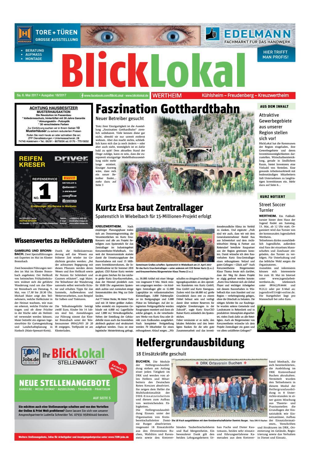 BlickLokal Wertheim KW18 2017 by BlickLokal Wochenzeitung - issuu