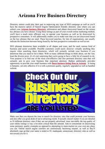 Arizona free business directory by USA Business Listing - issuu